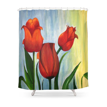 Society6 Tulip Shower Curtain
