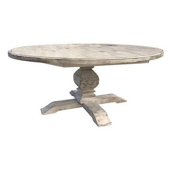 Round Distressed Fancy Farm Table