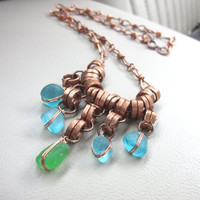 Beach Glass Festoon Necklace
