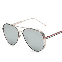 Metal Mirror Unisex Strong Character Vintage Fashion Sunglasses [10155813191]