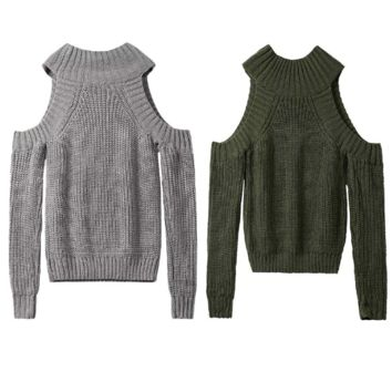 cold Shoulder knitted sweater B0014685