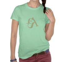 ladies fish logo typographic pink t shirt from Zazzle.com