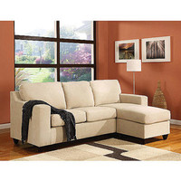 Walmart: Vogue Microfiber Reversible Chaise Sectional Sofa, Multiple Colors