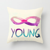 Forever Young Throw Pillow by Jacqueline Maldonado