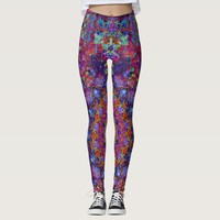 laced boho romantic colored mandala pattern leggings