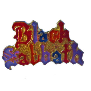 vintage BLACK SABBATH heavy metal enamel pin lapel badge button 666