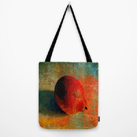 Lemon Still Life, Lemon Graffiti, Orange - Tote Bag - 3 Sizes Available - Grocery, Beach, Busy Mom, Coworker, Teacher - Made To Order-LG#84