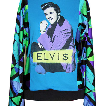 Elvis Presley 50s Pucci Pattern Sweater Top