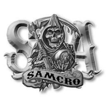 Sons Of Anarchy Reaper And Banner Belt Buckle - Sons of Anarchy - | TV Store Online