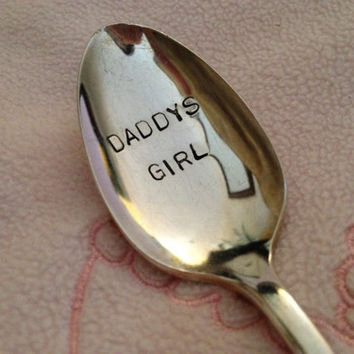 Daddy's Girl   Hand Stamped Personalized Vintage Childs spoon