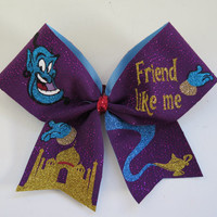 3 inch width Friend Like Me Aladdin genie cheer bow