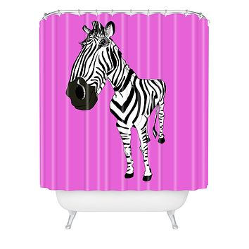 Casey Rogers Zebra Shower Curtain