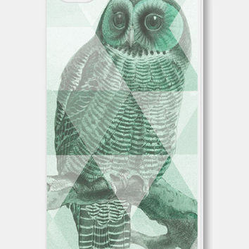 Geometric Phone Case - Mint Green Owl iPhone 5c case - Owl iPhone 5 Case - Mint iPhone 5 Case - Mint iPhone 5c Case - Mint iPhone 4 Case