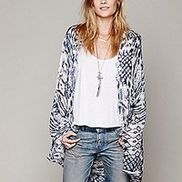 Woven Fringe Poncho at Free People Clothing Boutique
