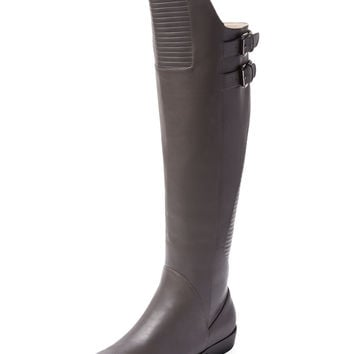 Renvy Women's Hanson Over The Knee Leather Boot - Grey -