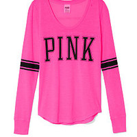 Long-sleeve Athletic Tee - PINK - Victoria's Secret