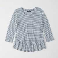 Womens Ruffle-Hem Top | Womens New Arrivals | Abercrombie.com