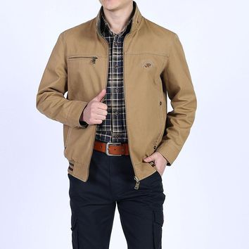 2018 New Spring Autumn Cotton Reversible Jackets Coats Men Straight Casual Asia Size 5xl Both Side Wear Coat Men Business Jacket