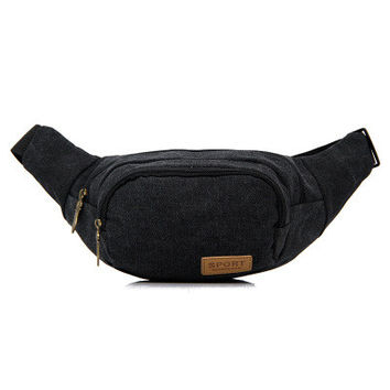Cotton Canvas Men Simple Design Casual Bags [6582467847]