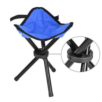 CREYLD1 Portable Light weight Folding Camping Hiking Folding Foldable Stool Tripod Chair Seat For Fishing Festival Picnic BBQ Beach 10
