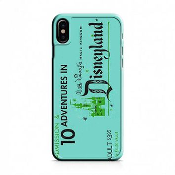 Disney Retro Disneyland Ticket Blue iPhone X Case