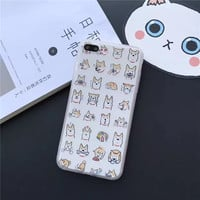 Various expressions of Shiba Inu phone case  for iPhone 5 5s SE 6 6s 6plus 6splus 7 7plus 1018J01