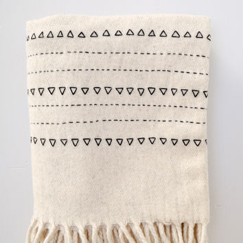 Blanket - Black Druzi Wool