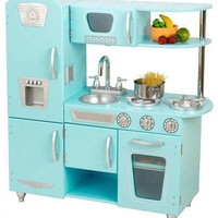 Blue Retro Pretend Kitchen
