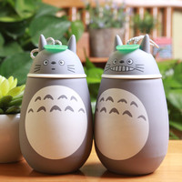 New Arrivals Kawaii Cartoon Totoro Novelty Baymax thermoses Cup Glass Stainless Steel Heat preservation Cute water bottle BW17