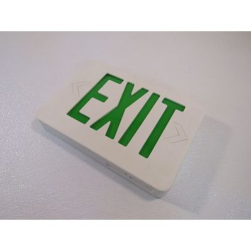 TCP Lighted Exit Sign Single Side LED 120 VAC 277 VAC 12in x 8.5in 20745D -- Used