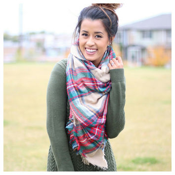Plaid Dream Blanket Scarf