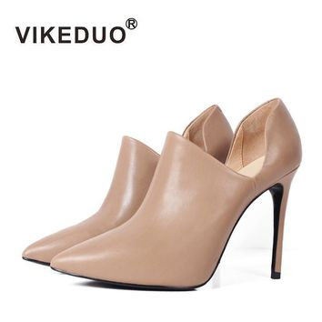 Zapatos Mujer Tacon Dames Schoenen Wedding Shoes Fashion Style Thin Heels High Women Lady Pointed Toe Genuine Original Design
