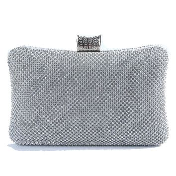 HOT Diamonds Women Messenger Bags Handmade Golden Silver Clutches Evening Bags For Wedding/Party bolsos mujer
