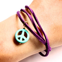 Custom Design Your Own Bracelet, Leather Wrap Bracelet, Charm Bracelet, Suede Bracelet, Colored Bracelet, Suede Wrap Charm Bracelet