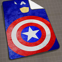 Superheroes Captain America blanket, funny blanket, cute and awesome blanket