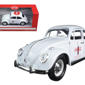 """1967 Volkswagen Beetle """"Celebrating 100 years of the Coca Cola Contour Bottle"""" 1-24 Diecast Model Car by Motorcity Classics"""