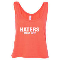 Haters gona hate tshirt - Ladies' Cropped Tank Top