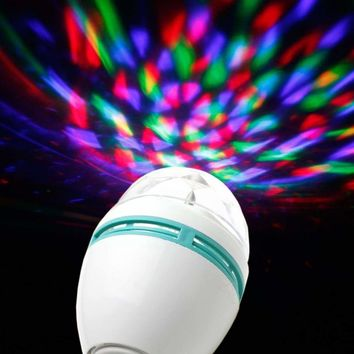 E27 3W Colorful Rotating Stage RGB LED Light Bulb Bright Party Disco Club Lamp 616043284545