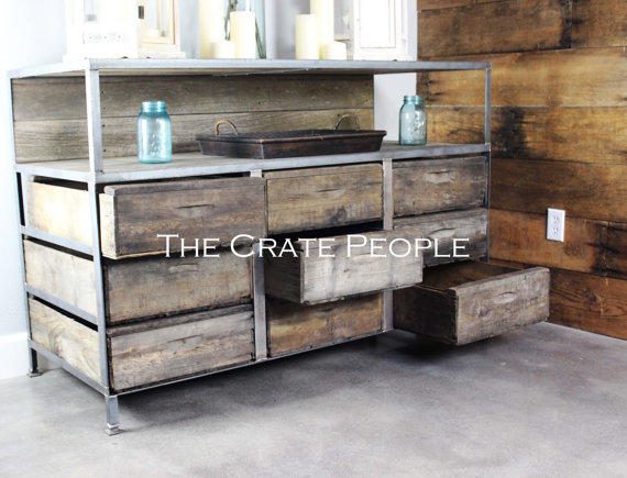 Buffet Table or TV Console – Customizable Furniture using Vintage Wood  Crates
