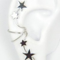 Sterling Silver Star Burst Ear Cuff Wrap right:Amazon:Jewelry