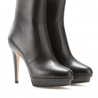 TRAIT LEATHER PLATFORM ANKLE BOOTS