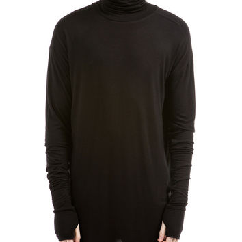 Essential Turtle Neck Under T-shirt - Black