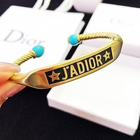 DIOR Hot Sale Woman Fashion Retro Opening Bracelet Accessories Jewelry