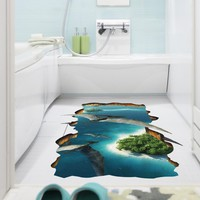 3D Creative Pterosaur Wall Sticker Kids Room Bathroom Floor Wall Decor Wallpaper Art Mural Flying Dinosaur Wall Applique Graphic