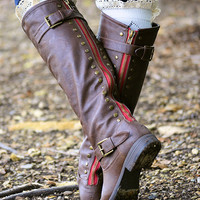 Rebel Girl Boots-Chocolate