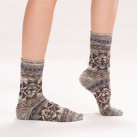 Heather Southwestern Socks