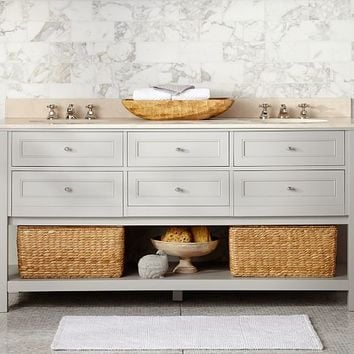Classic Double Sink Console - Gray