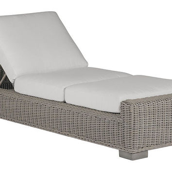 Rustic Oyster Chaise, White - Outdoor | One Kings Lane