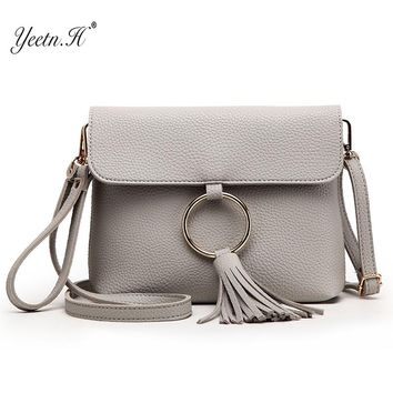 Yeetn.H Tassel Simple handbags women bags designer Fashion Ring Casual Envelope Evening Female Crossbody Messenger Bags Y996
