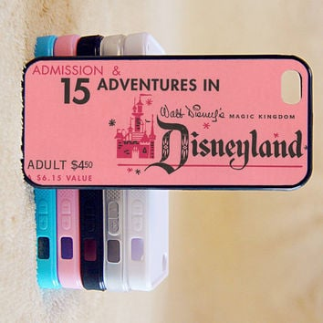 Disneyland,Ticket,Cute,Custom Case, iPhone 4/4s/5/5s/5C, Samsung Galaxy S2/S3/S4/S5/Note 2/3, Htc One S/M7/M8, Moto G/X